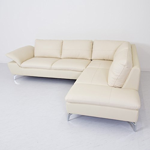 上質な革で作り上げたスペシャルなカウチソファ座り心地ゆったりリクライニングする肘自分好みのスタイルで座れるリラックスソファアイボリー座って右カウチ