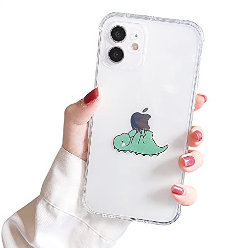 NITITOP Compatible with iPhone 11 Case Clear Cute with Dinosaur Cartoon Pretty Design Dino Creative Pattern for Girl Women Boys Soft TPU Shockproof Slim Funny Case for iPhone 11 -Play