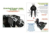 Top Mount CDスロット取付型 オールインワンホルダー付きマウント タブレット&スマートフォン兼用 強力スロット固定式 着脱簡単(IK-2050) [並行輸入品]