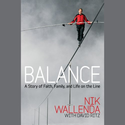 Balance     A Story of Faith, Family, and Life on the Line              By:                                                                                                                                 Nik Wallenda,                                                                                        David Ritz                               Narrated by:                                                                                                                                 Steve Gibbons                      Length: 5 hrs and 30 mins     5 ratings     Overall 4.2