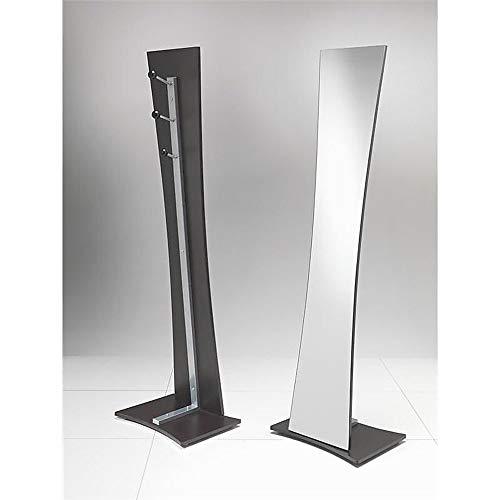Tomasucci VANESSA, Specchio del pavimento con struttura in metallo, Marrone