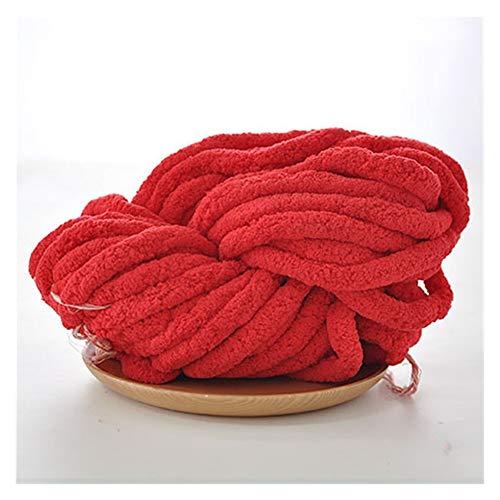 LHSJYG Thick Yarn,Arm Knitting Mano Vacía Tejida Bufanda Súper Gruesa Lana Sombrero De Lana (Color : 07 Red)