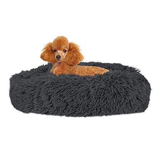 SlowTon Cama Calmante para Mascotas, Nido de Abrazos de Donas Felpa Suave y cálida Cojín Perro Gato con Cozy Sponge Fondo Antideslizante para Mascotas Pequeñas y Medianas Lavable a Máquina