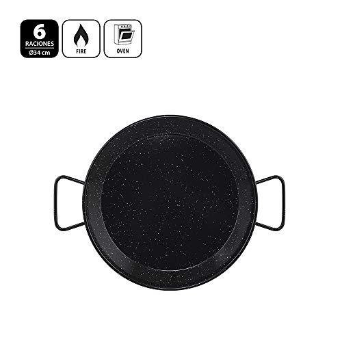 Metaltex - Paellera Acero Esmaltado 6 Raciones 34 cm