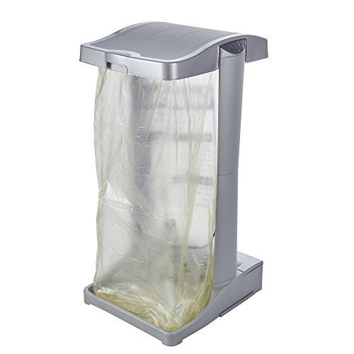 keeeper System-Müllsackständer mit integriertem Aufbewahrungsfach, 60-120 l, Ole, Silber