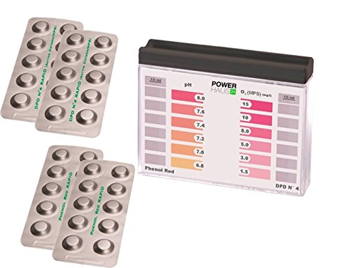 POWERHAUS24 - Pooltester Sauerstoff/pH mit 40 Tabletten