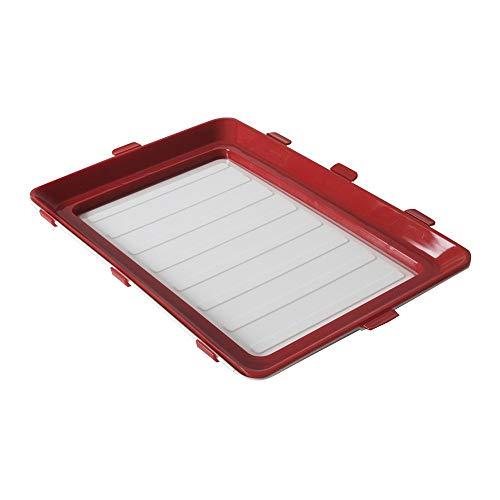Durandal Lunchbox to go Fresh & CLIK 2er Set ORIGINAL aus dem TV | Praktische Frischhaltedose BPA-frei | Umweltfreundliche Brotdose für Mikrowelle, 2er Set, Rot