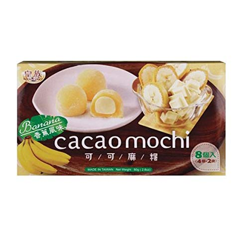 ROYAL FAMILY FOOD OFFICIAL Cacao Mochi Banana DOLCETTI Giapponesi RIPIENI alla Banana Dolci