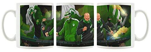 Ultras Greuther Fürth als Bedruckte Kaffeetasse/Teetasse aus Keramik, 300ml, weiß