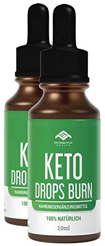 Keto Drops BURN (Tropfen) Ketogen EXTREM | Schnell & Leicht & Einfach LIPO | 10ml (2)