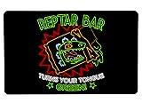 Nurdtyme Reptar Bar Neon Logo Large Mouse Pad Pop Culture Inspired 10' x 16' x 1/8 Desk Mat