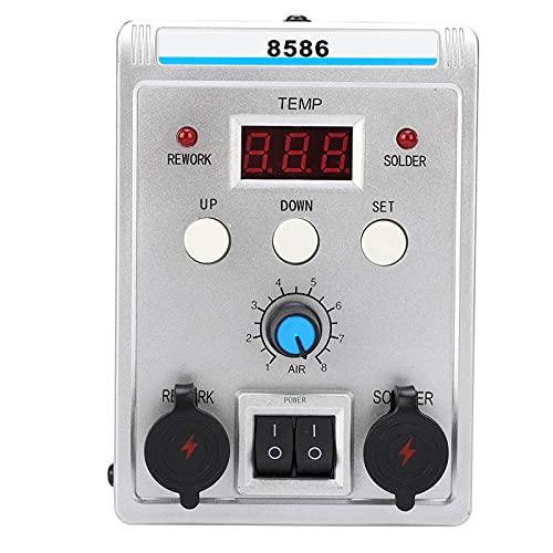 Estación de desoldadura de temperatura, Estación de soldadura de retrabajo de pantalla digital LCD, Resistente a la corrosión Durable para reparación de teléfonos Estación de desoldadura de