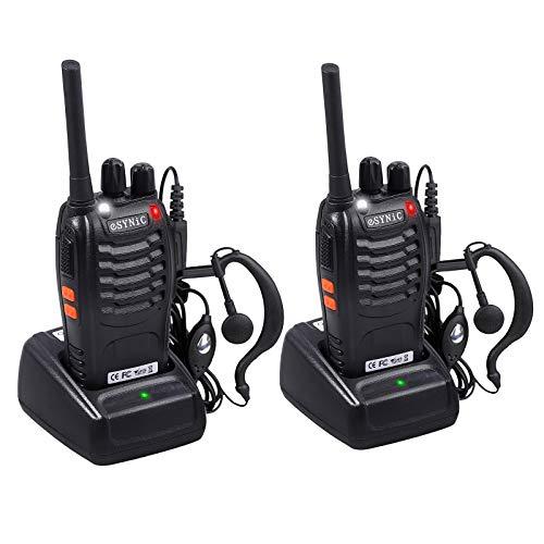ESYNiC Paio Walkie Talkie Ricaricabile VOX Radio PMR 446MHz 0.5W Frequenza Civile...