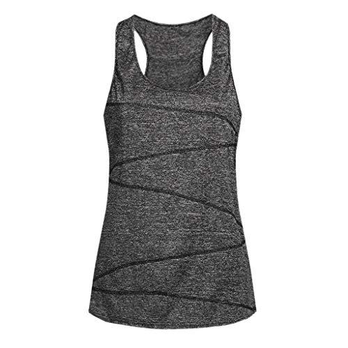 Sulifor Mujeres sin Mangas de Yoga,Tops Ropa Deportiva,Ideal para Correr Entrenamiento,Camisa Túnica para Mujer,Chaleco Tanque de Verano
