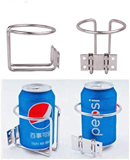 2Pcs Ring Cup Holder Open-Ringlike Tumbler Cup Drink Holder 304 Stainless Steel for Marine Boat Yacht RV Camper Truck