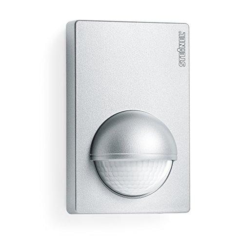 Steinel Bewegunsmelder IS 180-2 silber, 180° Infrarot Bewegungssensor, Dämmerungssensor für Innen- und Außenbereich