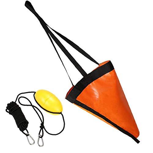 Nicedier Calcetines de Deriva Pesca en Kayak de mar de la boya 24 Pulgadas Barco Ancla troncocónicos Lago del río del océano Anclaje Trolling Bolsa Naranja 2 Piezas