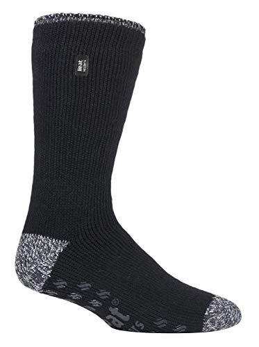 HEAT HOLDERS - Hombre invierno gordos antideslizantes calcetines estar por casa (39-45 Eur, Black (Siskin))