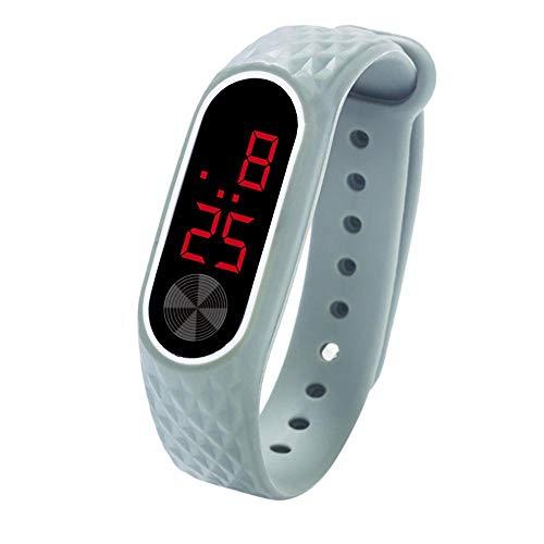 Tonsee LED Digitalanzeige Armbanduhr Fitness Armband Silikon Stoppuhren Sportuhren Schrittzähler Kalorienzähler Sport Smart Uhr Mode Sport Uhr Schrittzähler Uhr für Damen Herren und Kinder (C)