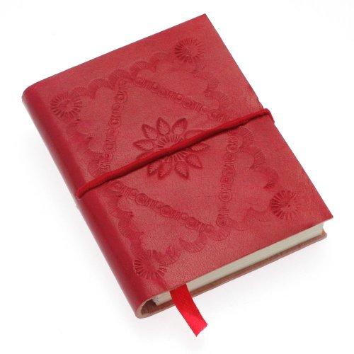 Fair Trade Kleinen geprägten Notizbuches – rot 75 X 95 mm