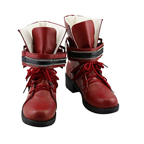 Final Fantasy VII Remake Tifa Lockhart Cosplay Shoes Women Red Boots