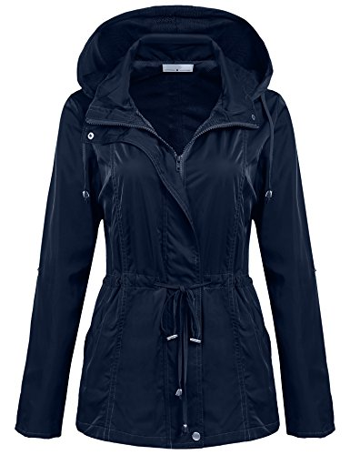 SoTeer Damesjack, lichte regenjas, waterdichte winddichte jas, outdoor met capuchon, lente, herfst
