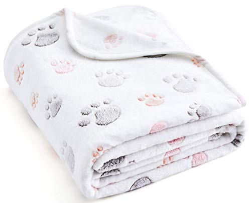 Allisandro 350 GSM-Super Soft and Premium Fuzzy Flannel Fleece Pet Dog Blanket, The Cute Print...