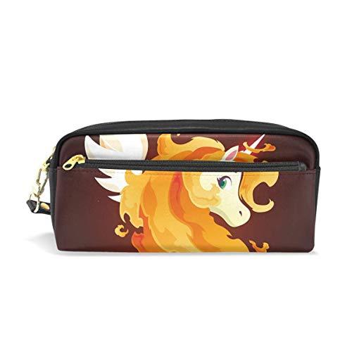 ARRISLIFE Fire Magic Unicorn Pencil case Cosmetic Makeup Bag Student Pen Pouch