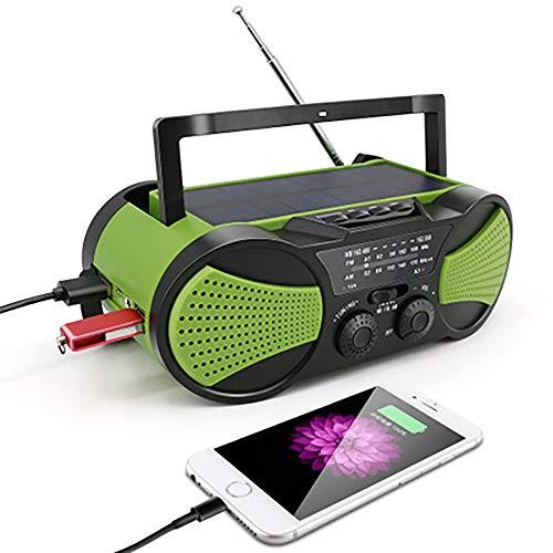 YXYY Solarradio en muziekspeler, radio, AM/FM, USB, oplaadbaar, draagbare accu, 4000 mAh, zaklamp, verlicht, voor noodgevallen, huishouden en overleven buitenshuis