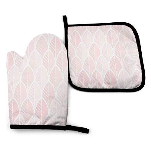 N\A Rose Nude Skin Tone Ofenhandschuhe und Topflappen Grillhandschuhe-Ofenhandschuhe und Topflappen mit Wasserdichten Polyester-Kochhandschuhen zum Kochen Backen Grillen