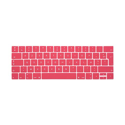 For Macbook Pro Retina 13 15 Touchbar 2016 Models A1706 A1707 French Language Keyboard Cover Coque Clavier Azerty Pour-Pink