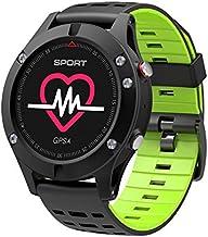 KDSFJIKUYB Smartwatch GPS Smart Watch con Bluetooth 4.0 Altímetro Barómetro Termómetro Monitor de Ritmo Cardíaco Smartwatch para iOS Android