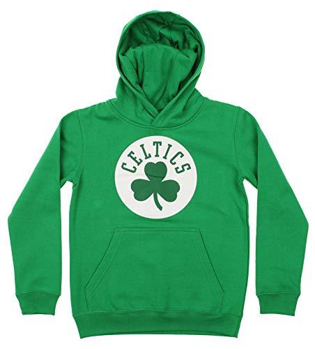 NBA Youth Boy's (8-20) Primary Logo Team Color Fleece Hoodie, Boston Celtics Large(14-16)