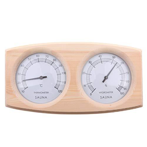 Yissma Sauna Thermo Hygrometer Holz, 2-in-1 Thermometer für den Innenbereich 26 * 14 * 5 cm