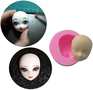 Carunke Fondant Decoration Mould Candy Clay Girl Face Moulds