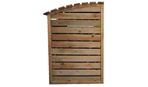 Mülltonnenbox aus Holz, Mülltonnenverkleidung – dreifach (für 3 Tonnen bis 240 Liter), wetterfest und somit ideal für draußen / Outdoor geeignet - 8