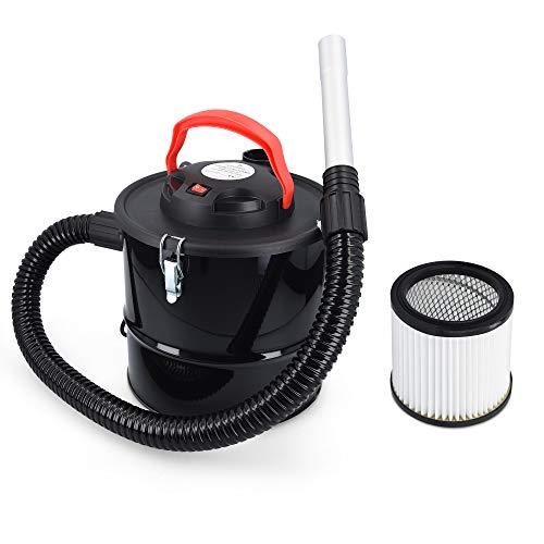 Navaris Aspirador de Cenizas de 10L - Aspiradora de Ceniza al vacío con Filtro HEPA - Hollín de chimeneas Estufas Horno de leña Chimenea eléctrica