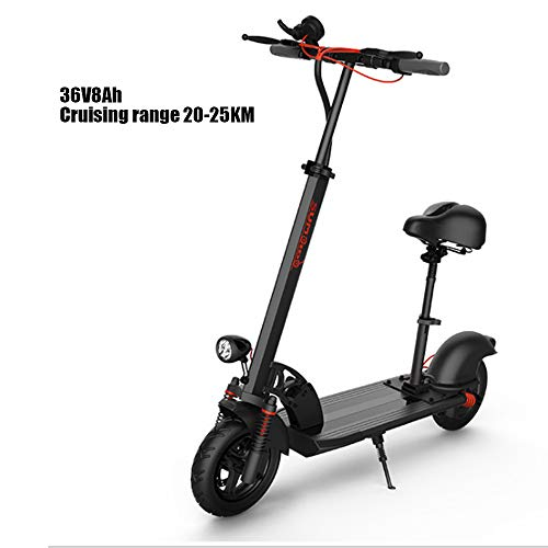 LSXX Folding elektrische scooter professionele offroad-elektrische scooter lange afstanden elektrische scooter 10-inch elektrische scooter met LED-verlichting actieradius 45km