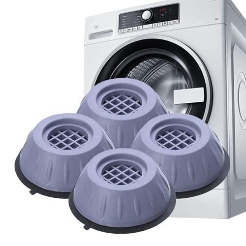Guanyj 4 Pezzi Tappetino Antivibrazione per Lavatrice Piedini per Lavatrice Ammortizzatore Vibrazione Tappetino Antivibrante per Adatto Accessori Lavatrice Frigorifero Grandi Elettrodomestici 4cm