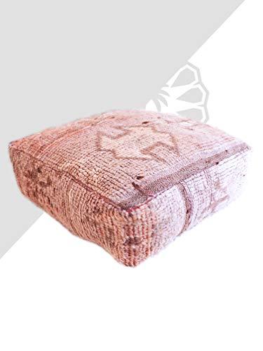 Kechart - Marokkanischer quadratischer osmanischer Kelim-Hocker, Kissen-Teppich, marokkanischer Hocker, marokkanischer Kelim-Hocker, Teppich-Hocker, großes Bodenkissen, marokkanisches Dekor