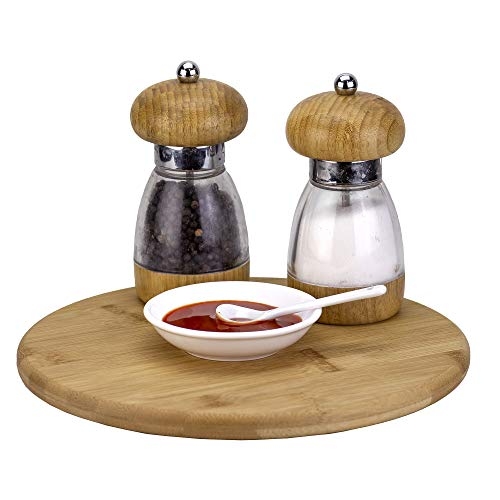 """TB Home 10"""" Bamboo Lazy Susan Kitchen Turntable for Pantry Cabinet or Table"""