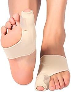 Gel Pad Juanete Corrector, separador de dedos de gel Toe separadores de dedos de los pies 2 patucos fácil uso día o noche para Hallux Valgus alivio del dolor (1 par)