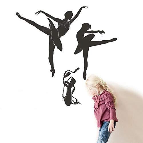 Ballet Dancer Dance Shoes Vinyl Wall Sticker