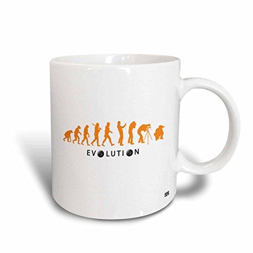 3dRose Kike Calvos (PÓVOA DE lanhoso) Evolution von Natural Auswahl an einen professionellen Fotografen mit Orange Farbe Tasse, Keramik, Mehrfarbig, 10,2x 7,62x 9,52cm