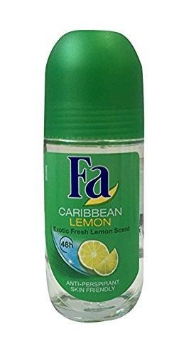 Fa Roll-on 50 ml Caribean Lemon (cristal) Pack de 6