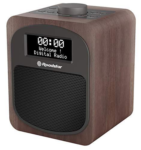 Roadstar HRA 600 D | kompaktes DAB+ Radio mit FM | Tischradio mit Alarmfunktion - Schwarz/Holz
