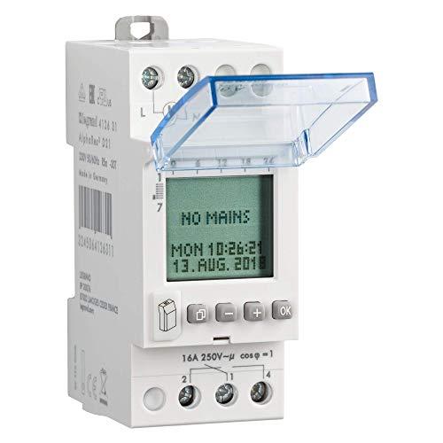 Legrand, Interruptor Con Horario Programable, Temporizador Electrico, 16A 250V, 2 Modulos