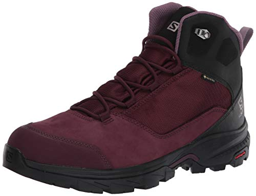 Salomon Damen Outward GTX, Hohe Wanderschuhe, Wasserdicht,Winetasting/Black/Quail,40 2/3