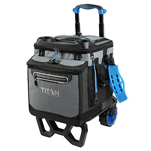Arctic Zone Titan Deep Freeze Rolling Cooler - High Performance - 60 Can Capacity (Blue)