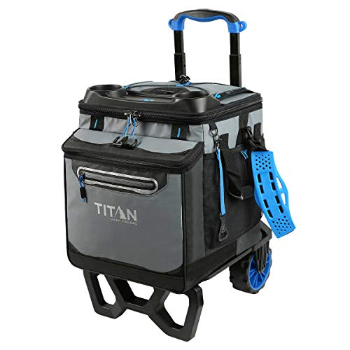 Arctic Zone Titan Deep Freeze Rolling Cooler - High Performance - 60 Can Capacity (Blue)